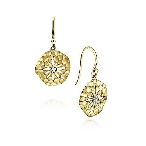 14k Yellow Gold Souviens Drop Earrings angle 1