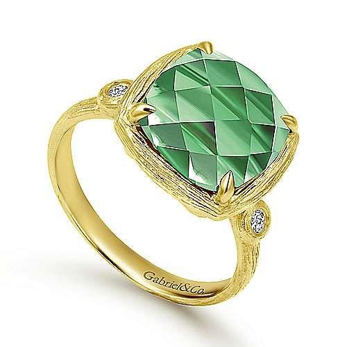 14k Yellow Gold Souviens Fashion Ladies' Ring angle 3