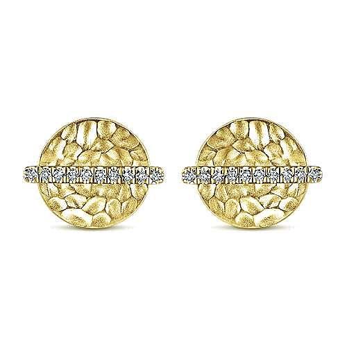 Gabriel - 14k Yellow Gold Souviens Stud Earrings