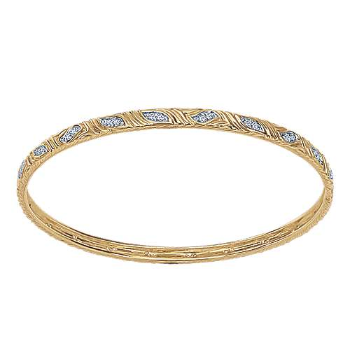 Gabriel - 14k Yellow Gold Stackable Bangle