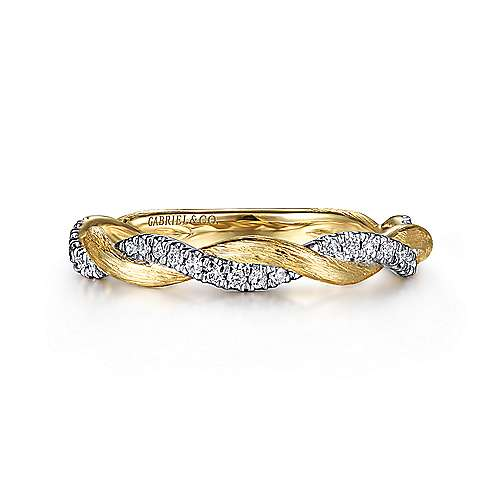Gabriel - 14k Yellow Gold Stackable Dual Band Ladies Ring