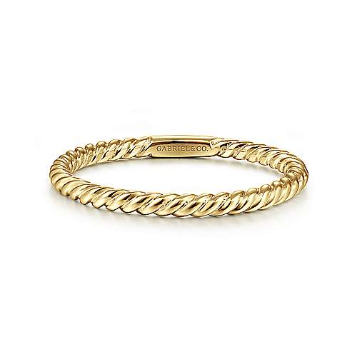 Gabriel - 14k Yellow Gold Stackable Ladies' Ring