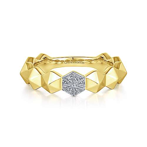 14k Yellow Gold Stackable Ladies Ring