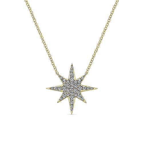 Gabriel - 14k Yellow Gold Starlis Fashion Necklace