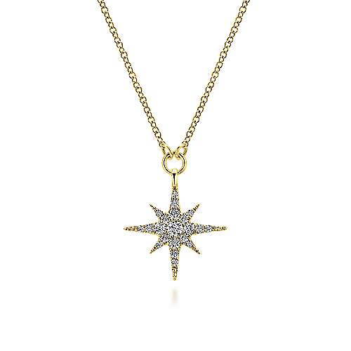 Gabriel - 14k Yellow Gold Starlis Fashion Necklace