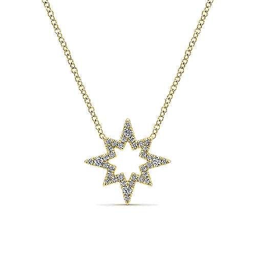 14k Yellow Gold Starlis Fashion Necklace angle 1