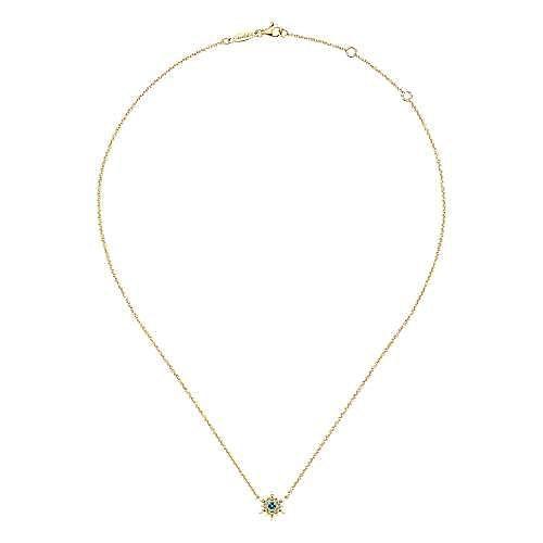 14k Yellow Gold Starlis Fashion Necklace angle 2