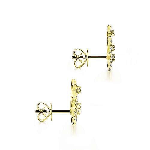 14k Yellow Gold Stellare Stud Earrings angle 3