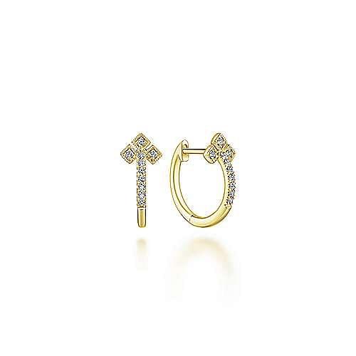 Gabriel - 14k Yellow Gold Stuggies Huggie Earrings