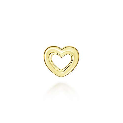 14k Yellow Gold Treasure Chests Locket Charm Pendant angle 2