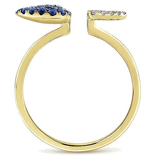 14k Yellow Gold Trends Fashion Ladies' Ring angle 2