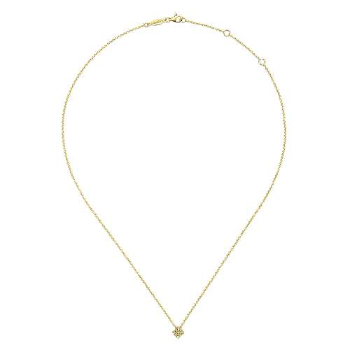 14k Yellow Gold Trends Fashion Necklace angle 2