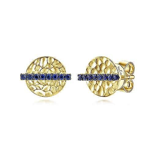 Gabriel - 14k Yellow Gold Trends Stud Earrings