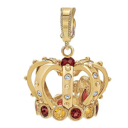 14k Yellow Gold Victorian Charm Pendant