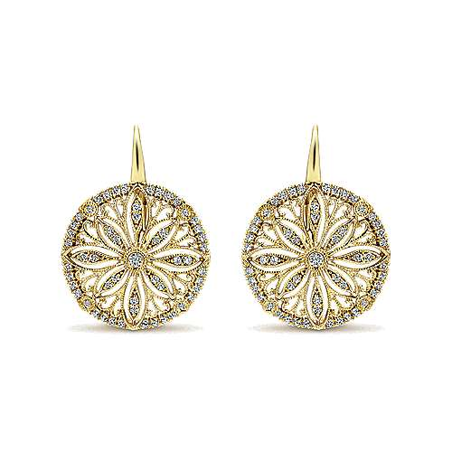 Gabriel - 14k Yellow Gold Victorian Drop Earrings