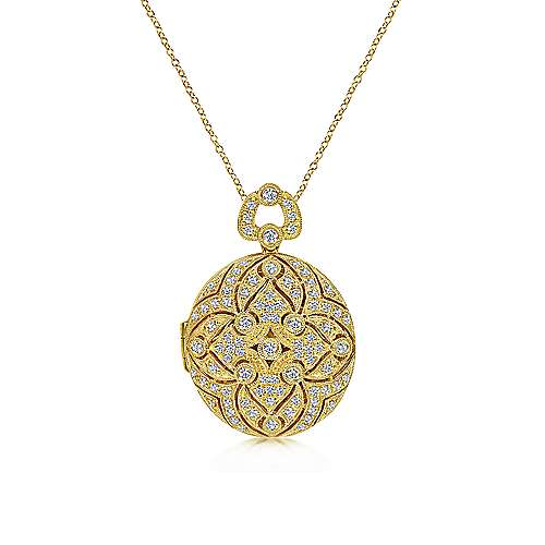 Gabriel - 14k Yellow Gold Victorian Locket Necklace