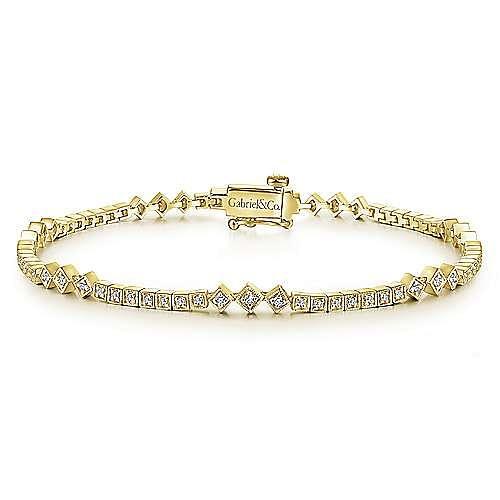 Gabriel - 14k Yellow Gold Victorian Tennis Bracelet