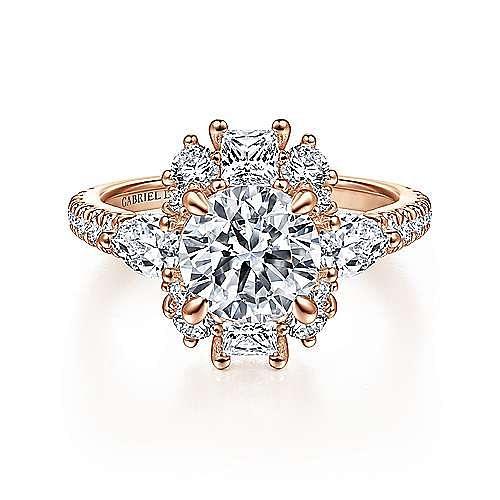 Gabriel - 18K Pink Gold Engagement Ring