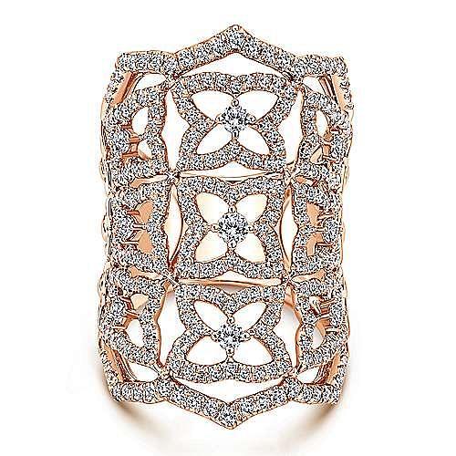 Gabriel - 18K Rose Gold  Fashion Ladies' Ring