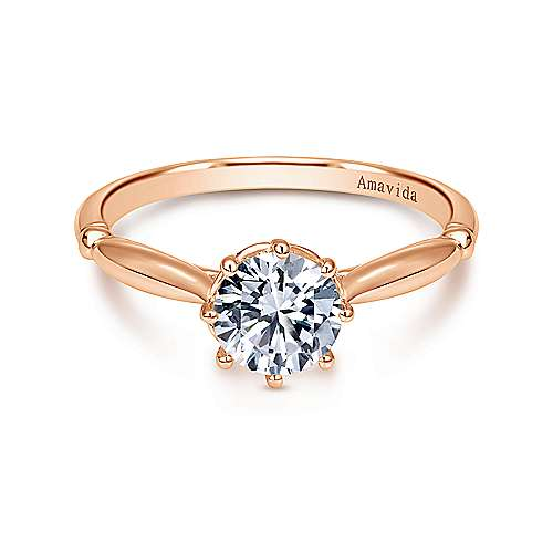 Gabriel - 18K Rose Gold Engagement Ring