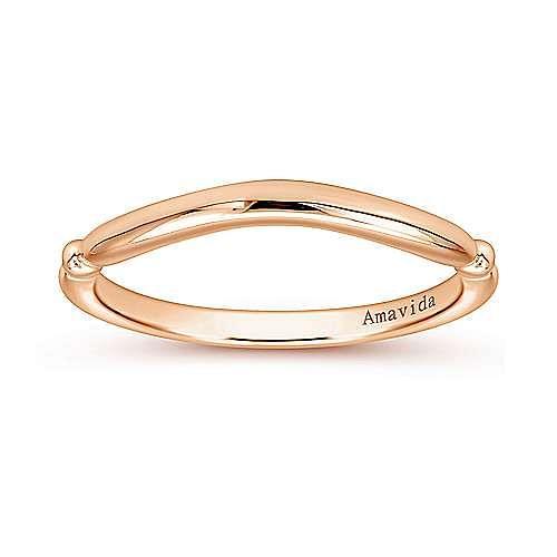 18K Rose Gold Matching Wedding Band