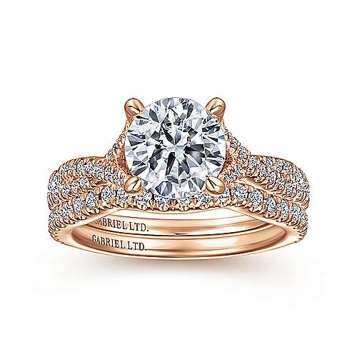 18K Rose Gold Matching Wedding Band