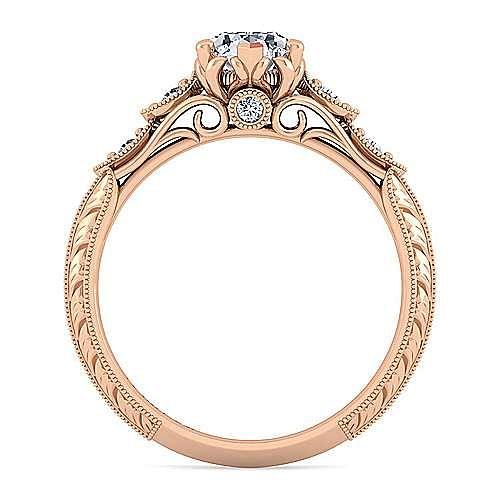 18K Rose Gold Pear Shape Diamond Engagement Ring