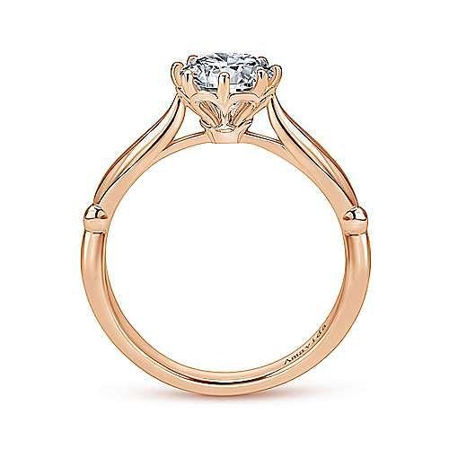 18K Rose Gold Round Diamond Engagement Ring