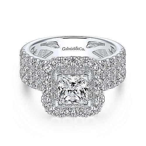 Gabriel - 18K W.Gold Dia Eng Ring