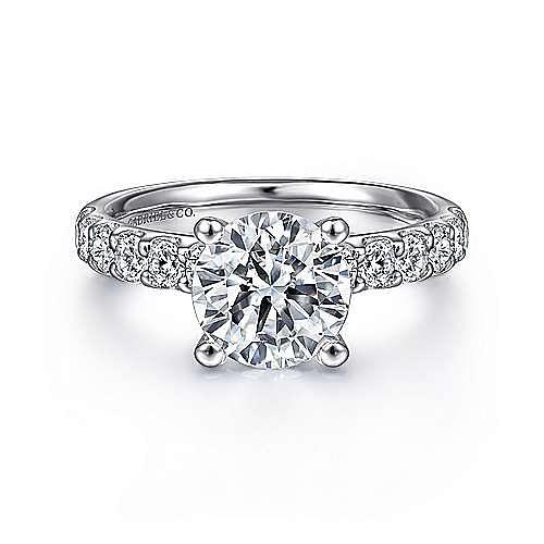 Gabriel - 18K W.Gold Diamond Eng.Ring
