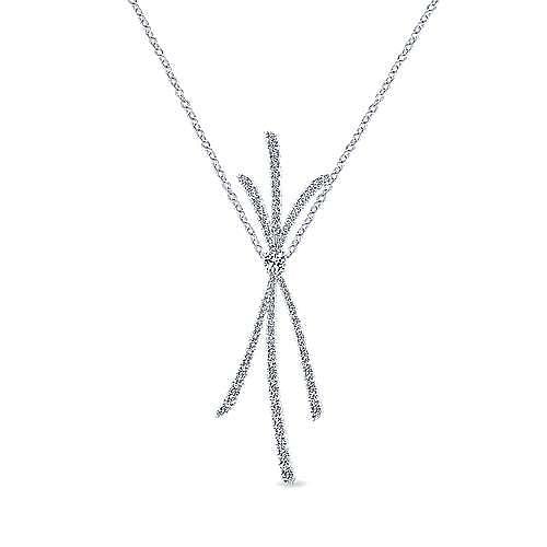 Gabriel - 18K W.Gold Diamond Necklace