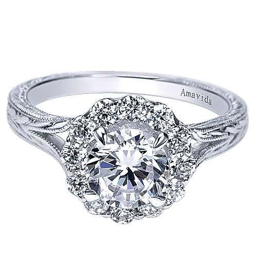 Gabriel - 18K White Gold   Engagement Ring