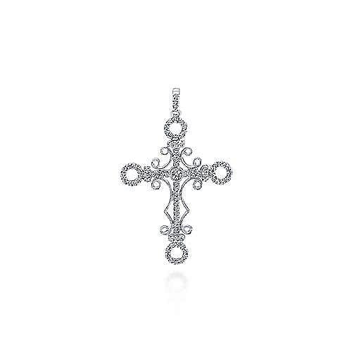 Gabriel - 18K White Gold  Fashion Cross Pendant