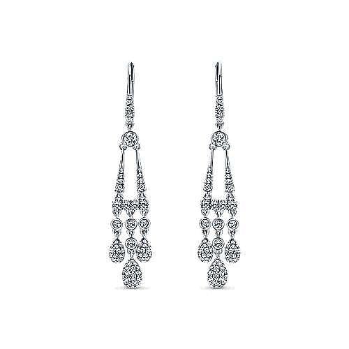 Gabriel - 18K White Gold  Fashion Earrings