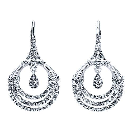 Gabriel - 18K White Gold  Fashion Earrings