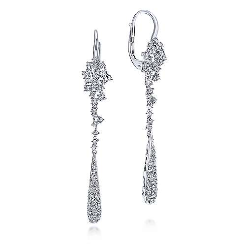 18K White Gold  Fashion Earrings