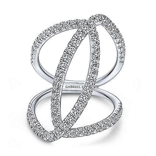 Gabriel - 18K White Gold  Fashion Ladies' Ring