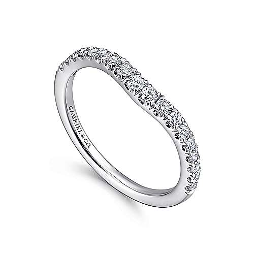 18K White Gold  Matching Wedding Band