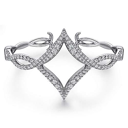 Gabriel - 18K White Gold Diamond Bangle