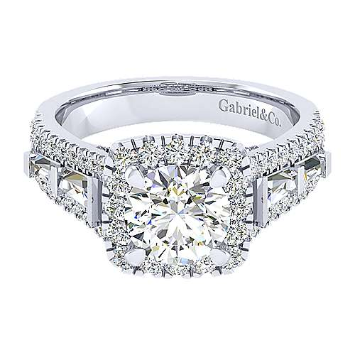 Gabriel - 18K White Gold Diamond Engagement Ring