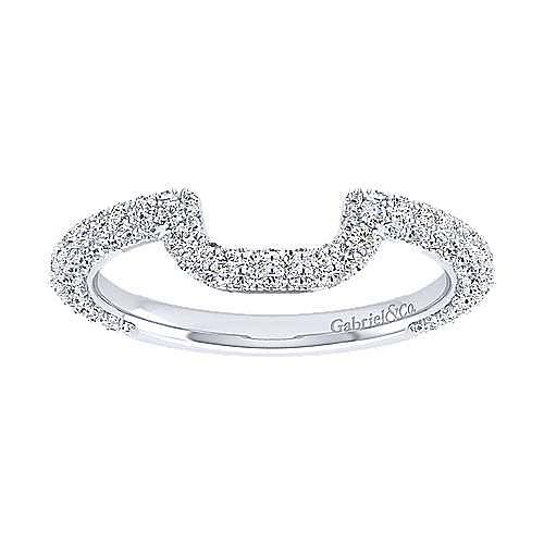 18K White Gold Diamond Matching Wedding Band