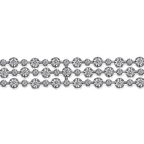 18K White Gold Diamond Tennis Bracelet