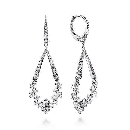 Gabriel - 18K White Gold Fashion Earring