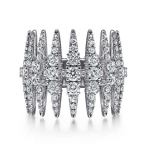 Gabriel - 18K White Gold Fashion Ladies' Ring
