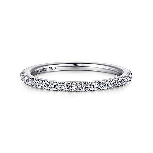 Gabriel - 18K White Gold Matching Wedding Band
