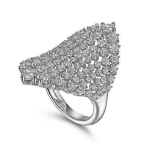 18K White Gold Statement Diamond  Ring
