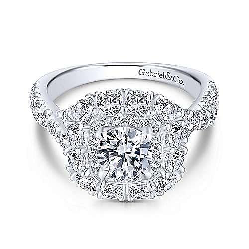 Gabriel - 18K White-Pink Gold Engagement Ring