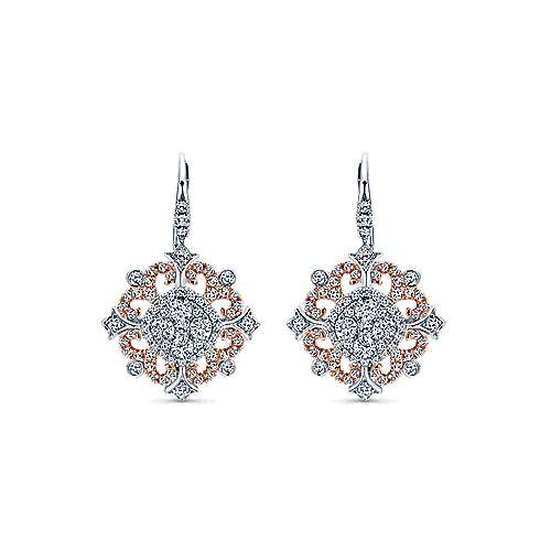Gabriel - 18K White-Rose Gold  Fashion Earrings