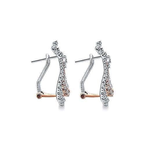 18K White-Rose Gold  Fashion Earrings