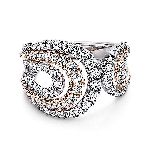Gabriel - 18K White-Rose Gold  Fashion Ladies' Ring